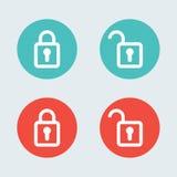 Lock flat icon design Stock Photo
