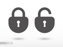 Lock - flat icon Stock Photos