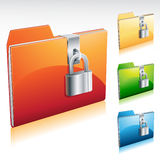 Lock Folder Icon. Illustration of a locked folder icon Stock Photos