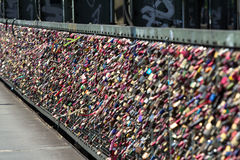 Lock of forever love at Cologne bridge Royalty Free Stock Photography
