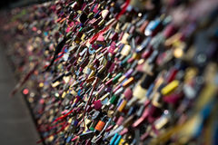 Lock of forever love at Cologne bridge Royalty Free Stock Photos