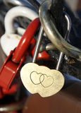 Lock in the form of heart Stock Photos