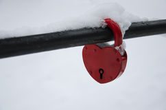 The lock in the form of heart Stock Image