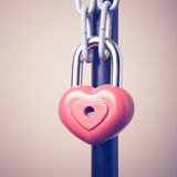 Lock in the form of a heart Stock Images