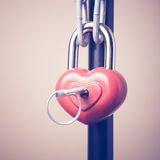 Lock in the form of a heart Royalty Free Stock Photo