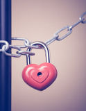 Lock in the form of a heart Royalty Free Stock Photos