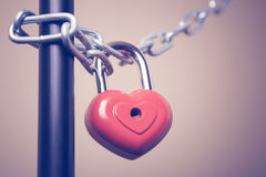 Lock in the form of a heart Royalty Free Stock Images