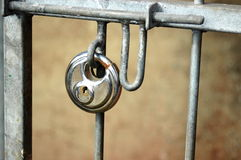 Lock on gate Stock Image