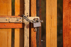 The lock on gate Royalty Free Stock Image