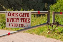 Lock Gate Stock Photos