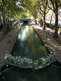 Lock gate on Canal Saint Martin, Paris Stock Image