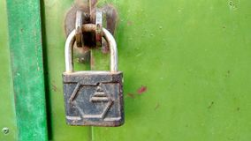 The lock on the gate Royalty Free Stock Photo