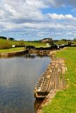 Lock gates on the Lancaster canal Stock Photography