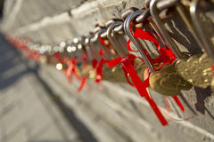 Lock. On the great wall of china royalty free stock photo