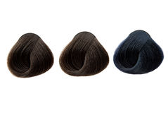Lock of hair color Royalty Free Stock Images
