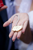 Lock on hand Royalty Free Stock Photography