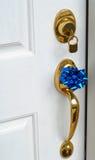 Lock and handle on door Stock Photos