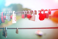 Lock in hart shape Stock Images