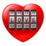 Lock on heart Stock Photography