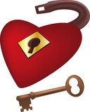 Lock from heart of the beloved  Stock Image