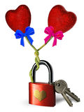 Lock heart Royalty Free Stock Image