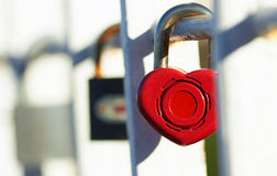 Lock with heart Stock Images