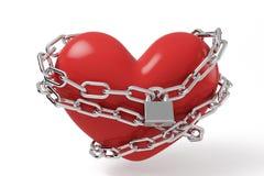 Lock heart vector illustration