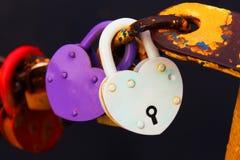 Lock heart Stock Photography
