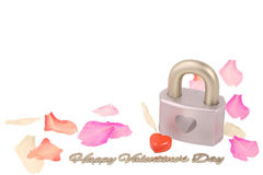 Lock with heart,Valentine`s Day Background. 3D illustration. Lock with heart,Valentine`s Day Background Royalty Free Stock Image