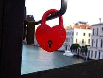 Lock in hearth shape Royalty Free Stock Image