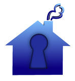 Lock house Royalty Free Stock Image