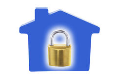 Lock and House Royalty Free Stock Photography