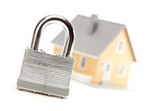 Lock and House Royalty Free Stock Images