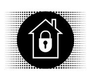 Lock house icon Royalty Free Stock Photo