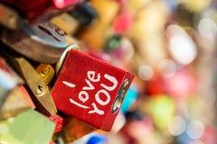 Lock I love you Royalty Free Stock Image