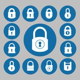 Lock icon Stock Photos