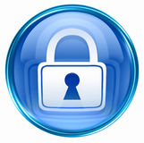 Lock icon blue Stock Photos