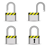 Lock icon collection Stock Photography