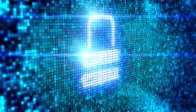 Lock icon digital style Stock Image