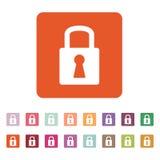 The lock icon. Lock symbol. Flat Stock Photos