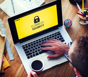 Lock Icon Password Protected Graphic Concept Royalty Free Stock Image
