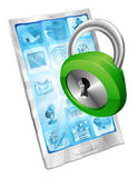 Lock icon phone security concept Stock Photography