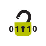 Lock icon security protection safety password sign privacy element and access shape open vector. Royalty Free Stock Images
