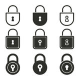 Lock icon set. Lock vector icons set. Black illustration isolated on white background for graphic and web design vector illustration