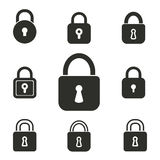 Lock icon set. Lock vector icons set. Illustration isolated for graphic and web design Stock Photos