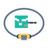 Lock icon vector. Royalty Free Stock Image