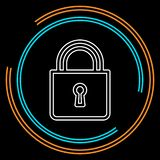 Lock icon, vector padlock, security safety symbol vector illustration