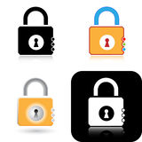 Lock icons Royalty Free Stock Photography
