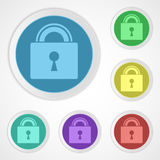 Lock icons closed Stock Photography
