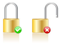 Lock Icons EPS Royalty Free Stock Images